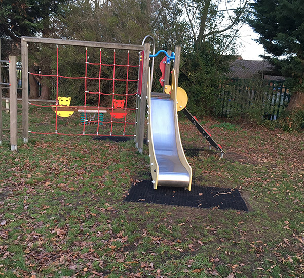 slide and rope climbing frame