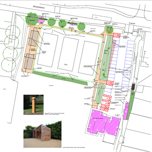 Tennis courts and car park improvement diagram